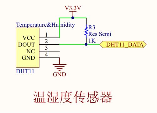 温湿度传感器硬件原理图
