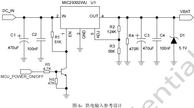 图 6:供电输入参考设计