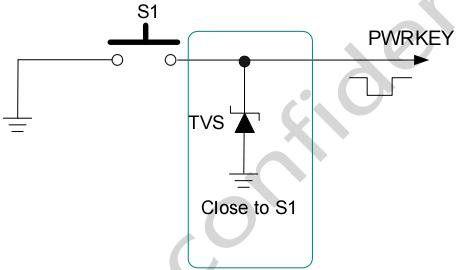 图 8:按键开机参考电路
