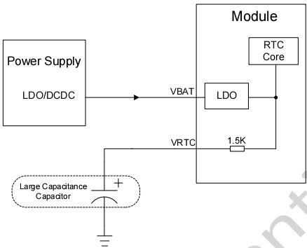 图 15: 使用超级电容给 VRTC 管脚供电