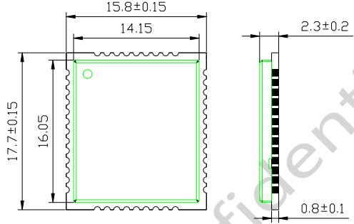 图 24:M26 俯视尺寸图(单位:毫米)