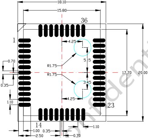 图 26:推荐封装(单位:毫米)